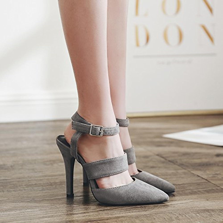 ZHZNVX La molla nuova satinata satinata satinata minimalista hasp punta con sandali, che erano a traliccio 36 grigio | Consegna Immediata  | Uomini/Donna Scarpa  94c8ca