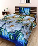 #8: Amayra Home 3D Designer Printed 170TC Polycotton Single Bedsheet with 1 Pillow Cover(Multi, Single Bed)