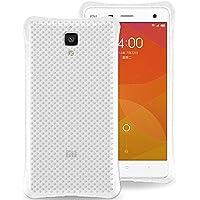 Xiaomi 4 M4 Mi4 Funda Silicona, Tmusik All Around Protective [Air Cushion Design] Shock-Absorción Transparente TPU Case, Drop Protección Soft Flexible gel Bumper Cover, con Templado Protector de Pantalla