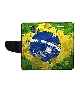 KolorEdge Printed Flip Cover For Samsung Galaxy S5 Multicolor - (50KeMLogo11841SamS5)