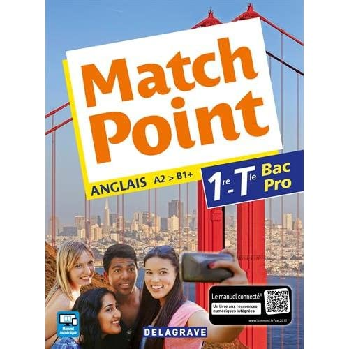 Match point 1re, Tle Bac Pro (Anglais) - Pochette élève
