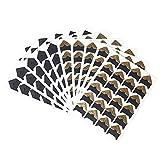 wowot Foto Ecken Selbstklebende Aufkleber, 10Blatt Fotokarton Ecke Aufkleber für DIY Scrapbook Alben