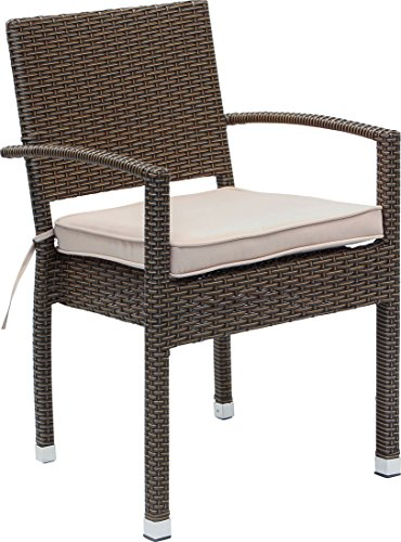IB-Style - Set Premium Gartenstühle 'Malaga' BRAUN | 4 Set-Kombinationen | Polyrattan stapelbar Stapelstuhl Gartenmöbel Gartengarnitur Gartenset Rattan Gartengruppe - 8er Set