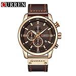 Curren 8291 Men Leather Band Strap Watch Mechanical Relogio Masculino Watch