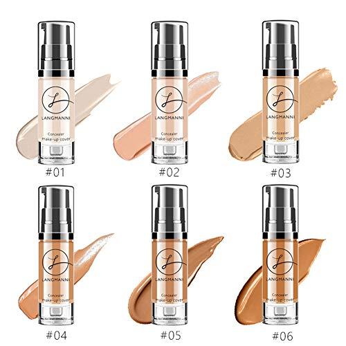 Ocamo Frauen Full Cover flüssige Concealer Make-up Gesicht Corrector Foundation Concealer wasserdicht Make-up Basis Kosmetik 1 - Tag Foundation Concealer