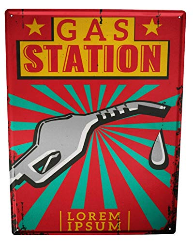 St574ony Metal Sign 12x16 Inches Poster Plaque Tin Plate Vintage Plaque Garage Gas Station - Gas Station Sign Display