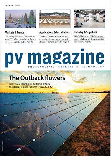 PV Magazine english 10 2016 The Outback flowers Australia Zeitschrift Magazin Einzelheft Heft Outback Solar Energie