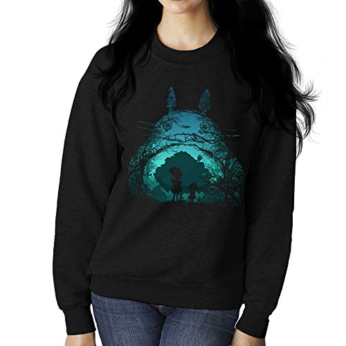 Treetoro My Neighbor Totoro Studio Ghibli Women's Sweatshirt (Studio Womens Pullover)