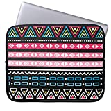 qidushop Traditional Aztec Seamless Tribal Folk Art Pattern 15 15.4 Inch Computer Case for Laptop Modern Art Thin Soft Neoprene Computer Sleeve