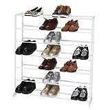 Befied Zapatero Metálica 4/ 7/ 10 baldas Estantería para zapatos Mueble Organizador de Zapatos para habitación, salón, entrada, terraza