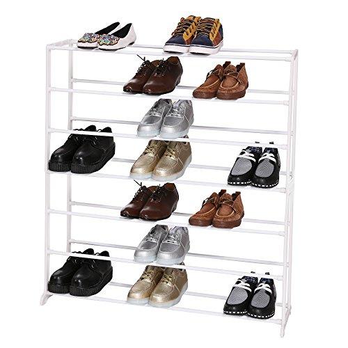 Homdox Schuhregal 7 Ebenen Metall Schuhschrank Für 35 Paar Schuhe  Schuhablage Schuhständer Für.