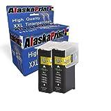 Premium 2x Kompatible Druckerpatronen Als Ersatz für Lexmark 100 XL Schwarz Black BK für Lexmark Impact S305 Interact 605 Interpret S405 Intuition S505 Pro905 Pro805 Pro705 Prospect Pro205 druckerpatrone