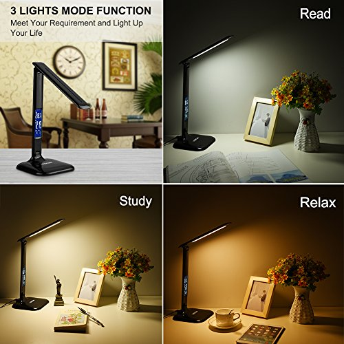 Mobile COB LED lampada da scrivania Lampada Pieghevole 3/Livelli di Luminosit/à