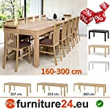 Tisch Küchentisch Esszimmertisch Esstisch WENUS ausziehbar 300 cm !!! Sonoma Eiche