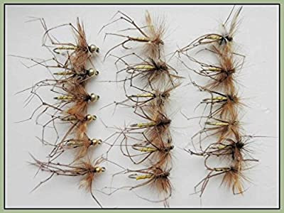 Daddy Long Legs Trout Flies, 18 Standard & Gold Head, Mixed Size, Fly Fishing from Troutflies UK