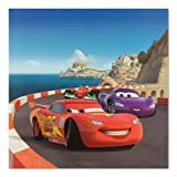 Keilrahmen Leinwand Bild Wandbild 35x35 Disney Cars 2 Lightning McQueen & Holley