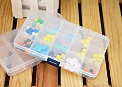 15 Grids Multipurpose Transparent Plastic Storage Box with Removable Dividers for Storing Various Items