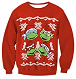 Sweatshirt Damen Hässliche Weihnachten Druck Schneeflocken Weihnachtsmotiv Rundhalsausschnitt Weihnachtspullover Top Jumper Damenmäntel Sweatshirts L