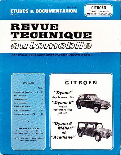 Etudes et Documentation de la Revue Technique Automobile - Citroën
