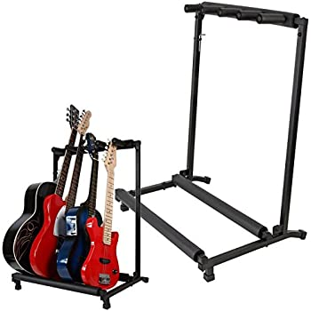 rocktile multi stand 5 guitars with wheels for e a guitar musical instruments. Black Bedroom Furniture Sets. Home Design Ideas