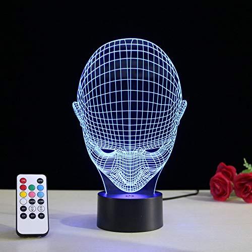 Nachtlicht Optische Täuschung Lampe 3D Usb Led Lampe Kinderzimmer Schlafzimmer Künstlerische Figur