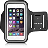 MoKo Sports Armband for iPhone 6s Plus / iPhone 6 Plus, Samsung Galaxy Note 5 / S6 edge+, Droid Turbo and LG G4 / G3, Card Slot, Sweat-proof, Negro (Size L, Compatible with Cellphones up to 5.7 Inch)