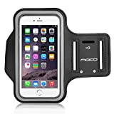 "MoKo iPhone 6S Plus Armband - Sweatproof Joggen Laufen Sport Armband Handy Hülle Schutzhülle Case + Schlüsselhalter Kopfhörer Anschluss für Apple iPhone 6 Plus / 6S Plus 5.5"", Smartphone, Schwarz"