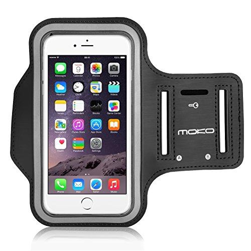 """MoKo Brazalete Deportivo para iPhone 6s Plus / iPhone 6 Plus, Galaxy Note 4,G3 -Resistente al Agua/Sudor, Perfecto Auricular Conexión Durante Ejercicio y Corriendo, NEGRO (Compatible con celulares hasta 5.7"""")"""