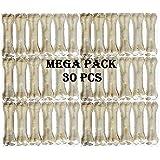 Pet Trends Rawhide Pressed Chew Dog Bone Mega Pack 3 Inches 30 Pcs