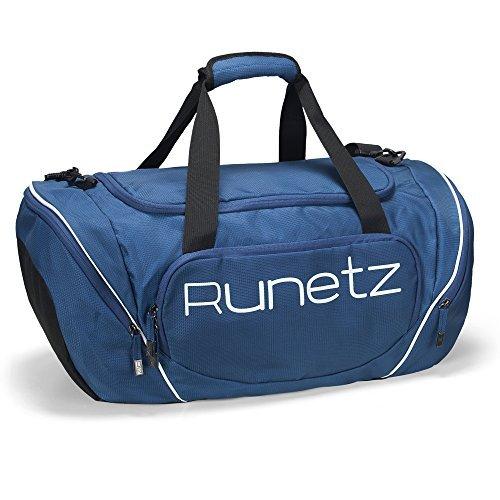 Runetz–große Sporttasche / Turnbeutel 50,8cm-76,2cm, Schultersack / Seesack für Männer & Frauen, marineblau, L