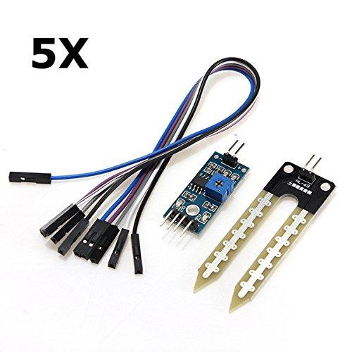 Bluelover 5Pcs Boden-Hygrometer Feuchtigkeits-Erkennungs-Modul Feuchtigkeitssensor Für Arduino