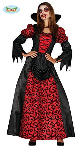 Costume Vampiressa Donna Halloween Vampira Adulto Travestimento Horror TG 40/44