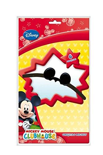 Einladungen Minnie Kostüm - 6 x Ohren * MICKEY MOUSE * für Kindergeburtstag und Motto-Party // Kinder Geburtstag Micky Maus Partyhut Partyhütchen