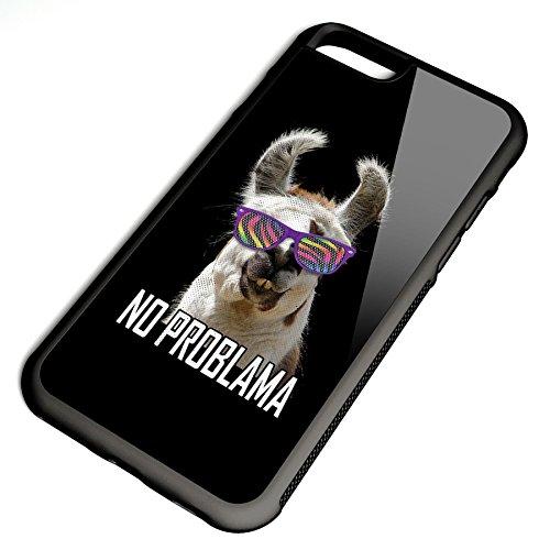 Smartcover Case No Problama z.B. für Iphone 5 / 5S, Iphone 6 / 6S, Samsung S6 und S6 EDGE mit griffigem Gummirand und coolem Print, Smartphone Hülle:Samsung S6 EDGE weiss Iphone 6 / 6S schwarz