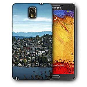 Snoogg Abstract City Printed Protective Phone Back Case Cover For Samsung Galaxy NOTE 3 / Note III