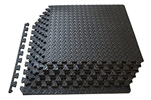 ProSource Puzzle Exercise Mat High Quality EVA Foam Interlocking Tiles - Covers 24 Square Feet -