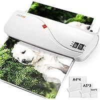 Plastificadora A4 A5 A7, TACKLIFE MTL01 Laminador en frío y en caliente con ajustador de papel/ABS / 10 bolsas, 260 mm de velocidad/mini máquina de laminación