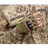 KT-SUPPLY Motorrad Handschuhe kurz für Painball Airsoft Militär und taktischen Aktivitäten Armeegrün L - 3