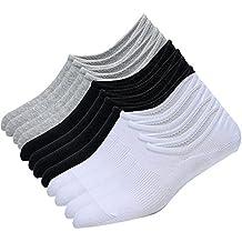 Tinksky Calcetines bajos del corte No demuestre los calcetines antideslizantes invisibles para el verano los regalos del d/ía de padre o el regalo para los hombres color al azar de 5 pares