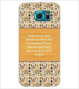 PrintDhaba Quote D-3692 Back Case Cover for SAMSUNG GALAXY S6 (Multi-Coloured)