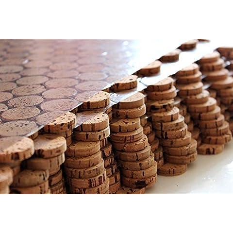 Corcho suelo corcho mosaico azulejos suelo de pared combinado 60cm x 30cm grosor 6mm maciza/de en Y Exterior/salas