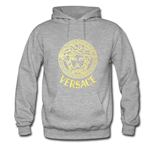 Preisvergleich Produktbild POLO Tops Mens 2016 New Versace Gold Kapuzenpullover Hoodie Sweatshirt Medium Gray
