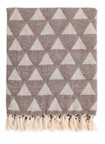 Ehc copriletto reversibile in cotone morbido divano letto poltrona, beige, 125x 150cm/singolo, cotone, brown, 125 x 150 cm/single