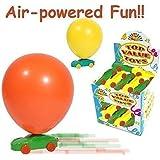6 x Childrens Kids Balloon Racing Car Kit Party Bag Filler Indoor Outdoor Toy