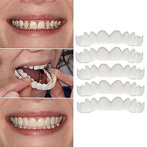 Artistic9 5 Stück Veneer Zähne Kosmetische Zähne Veneer Temporäre Lächeln,Sichtlich mehr Lebensfreude,Lass dich lächeln mehr Selbstvertrauen