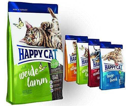 "Happy Cat Weide Lamm 10 kg + 4x 300g \"" Probierbox\"""