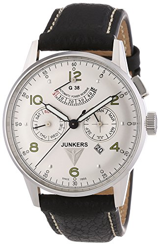 Junkers - 69604 - Montre Homme - Automatique - Analogique - Aiguilles lumineuses - Bracelet Cuir Noir