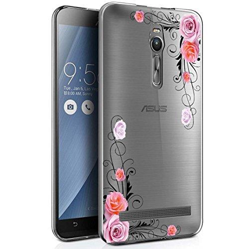 Langlee ASUS ZenFone 2 (ZE551ML) 5,5 Zoll Hülle, Transparent Soft Flex Silikon Schutzhülle TPU Case Crystal Clear Handyhülle Kratzfest Bumper für ASUS Zenfone 2 5,5