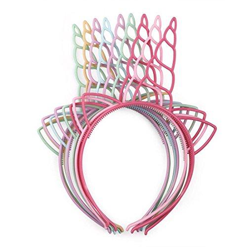 UWIME 12 Pack Kunststoff Einhorn Stirnband, Kleinkinder Haarbänder Kinder Party Kopfschmuck für...