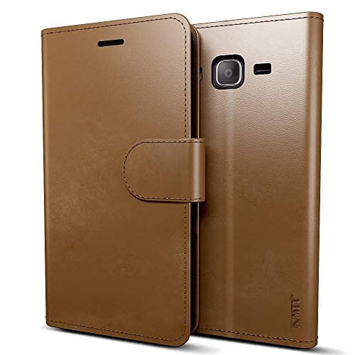 MTT® Premium Leather Flip Wallet Case with Card Slot for Samsung On7 Pro / On7 (Brown)